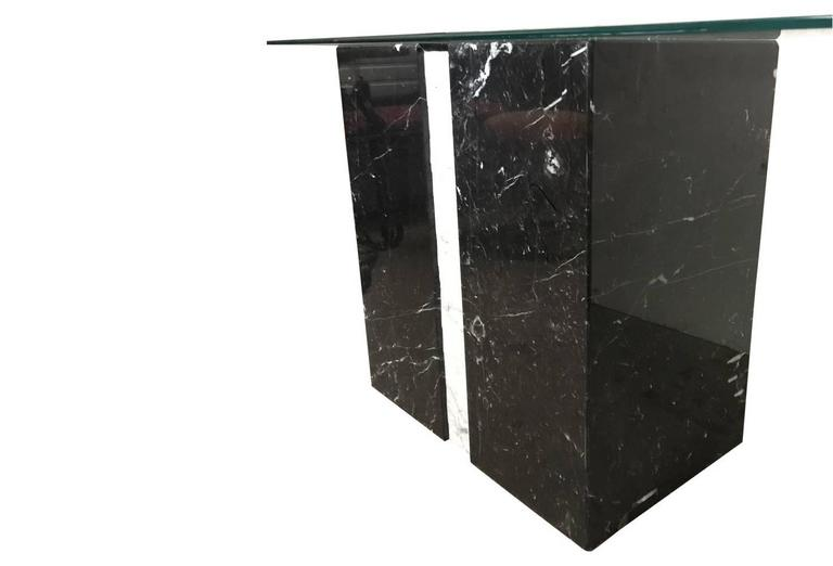 Sirmos Style Black and White Marble Console Table 2