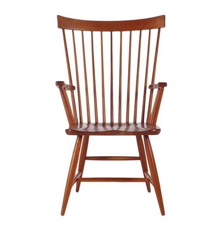 A Well Made Set Of Windsor Chairs In Solid Dark Cheerywood. Great Modern  Design