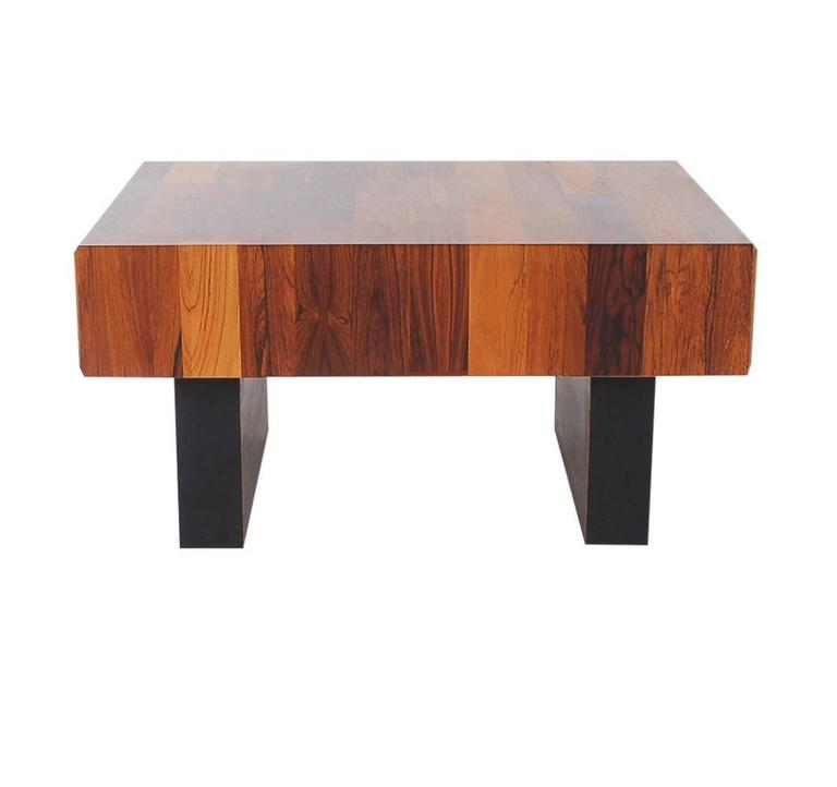 Mid Century Rose Wood Side Table Or Small Coffee Table For: Mid-Century Danish Modern Small Scale Drawer Coffee Table