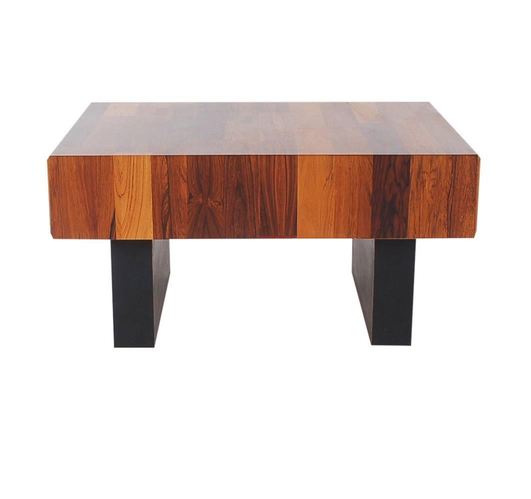 Mid-Century Danish Modern Small Scale Drawer Coffee Table