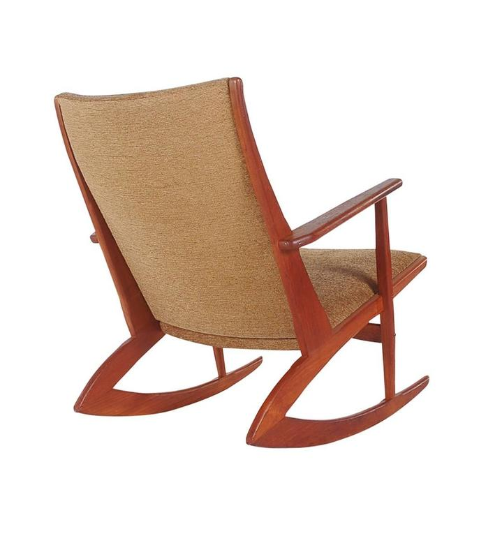 rocking chair in teak danish mid century modern for sale at 1stdibs
