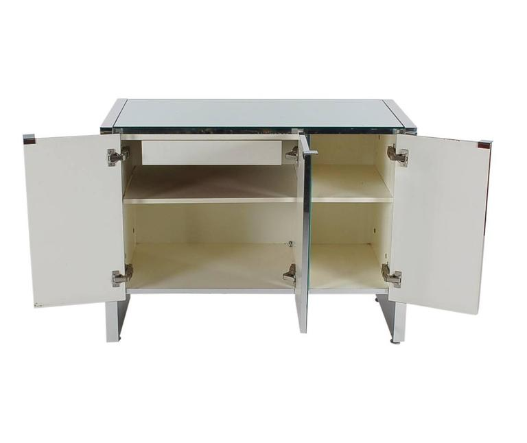 Mirrored Art Deco Credenza or Cabinet by Ello after Pierre Cardin or Paul Evans 5