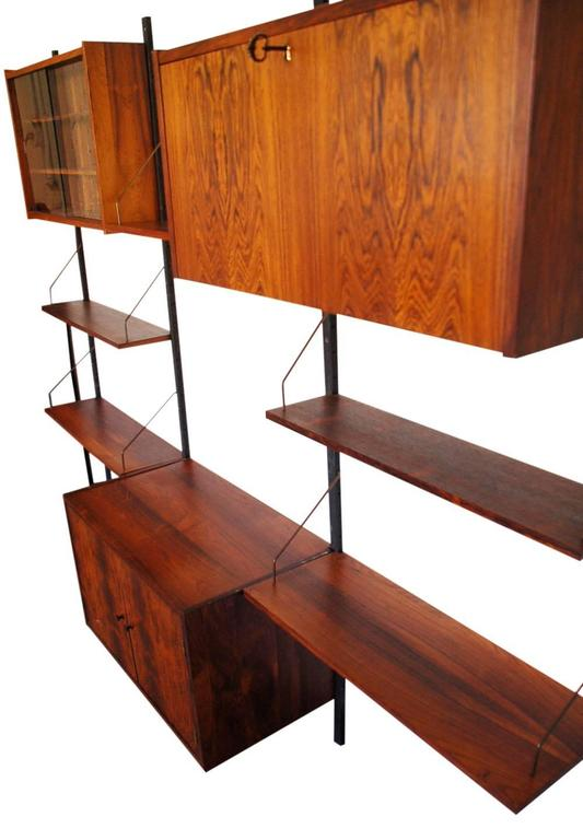 Scandinavian Modern Danish Rosewood Cado Style Ps Wall Unit by Peter Sorensen for Randers For Sale
