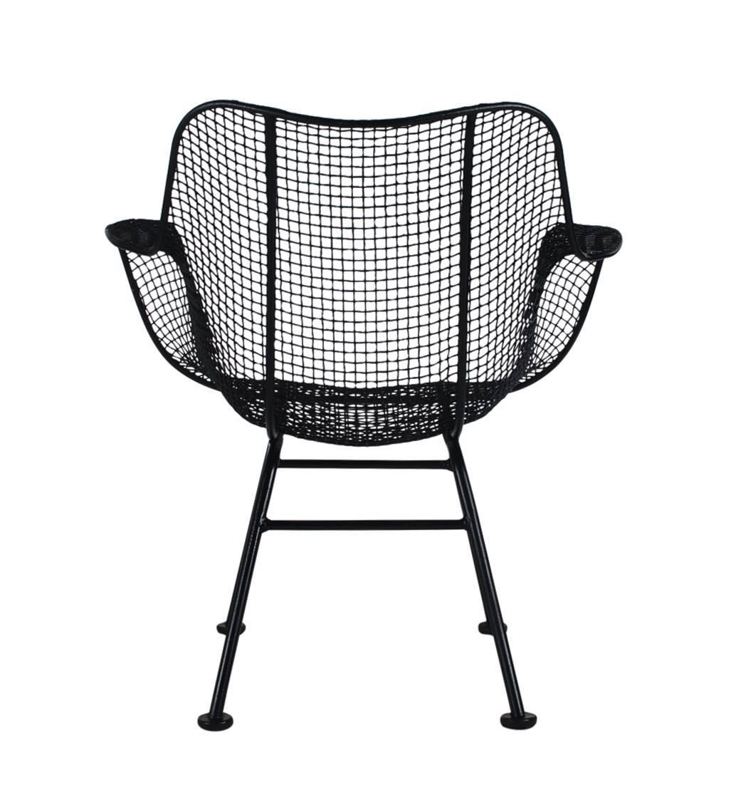 Mid-Century Modern Pair Of Sculptural Patio Wire Lounge