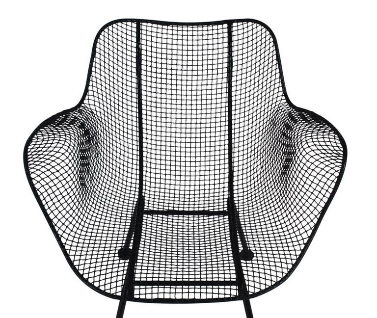 Mid-Century Modern Pair of Sculptural Patio Wire Lounge Chairs, Russell Woodard 4