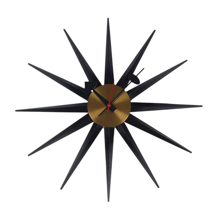 Mid Century Modern Vintage Original George Nelson Wall Clock For Howard  Miller For Sale