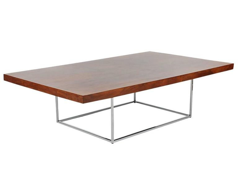 Milo Baughman Mid-Century Modern Burl Wood Cocktail Table for Thayer Coggin 2