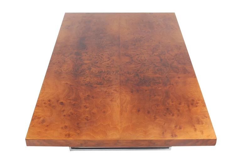 American Milo Baughman Mid-Century Modern Burl Wood Cocktail Table for Thayer Coggin For Sale