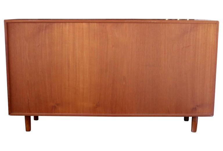 20th Century Mid-Century Modern Danish Teak Credenza Sideboard Bookcase For Sale
