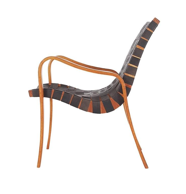 mid century modern black leather lounge chair after bruno mathsson or thonet at 1stdibs. Black Bedroom Furniture Sets. Home Design Ideas