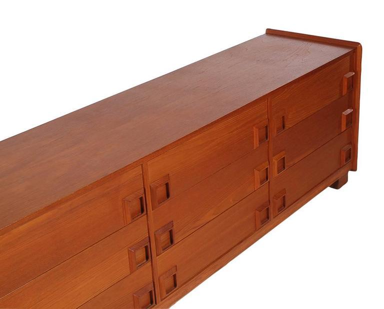 Danish Modern Mid-Century Teak Triple Dresser or Credenza after John Stuart 3