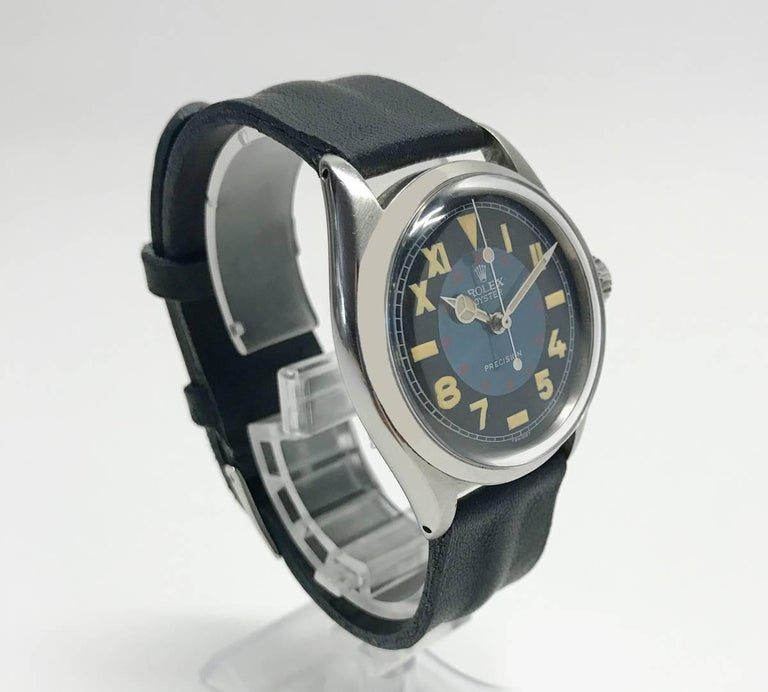 Vintage Oyster Unisex Rolex Wristwatch with California Military Dial 2