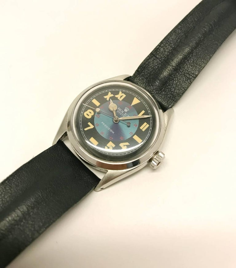 Vintage Oyster Unisex Rolex Wristwatch with California Military Dial 8
