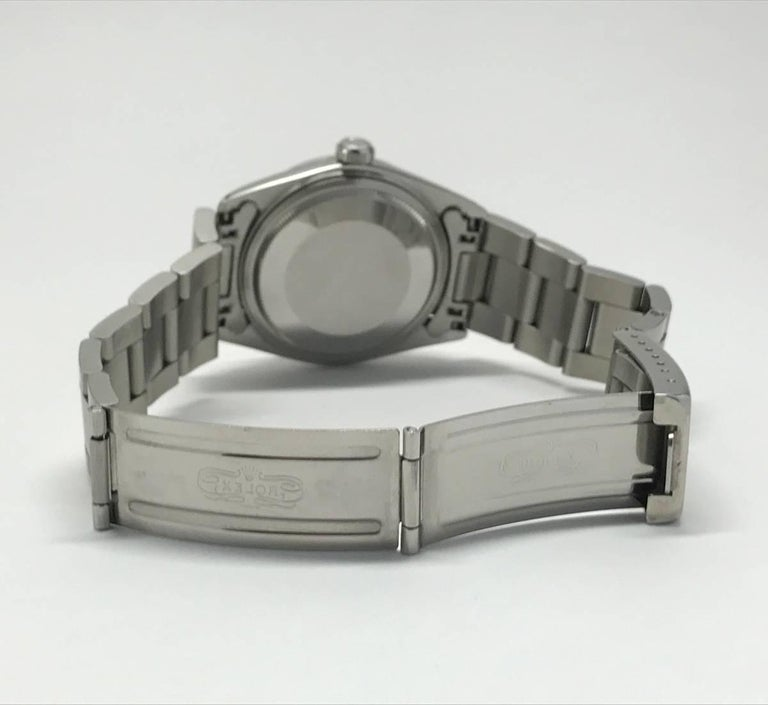 Vintage Men's Rolex Datejust Oyster Wristwatch Stainless Steel and Gray Dial 5