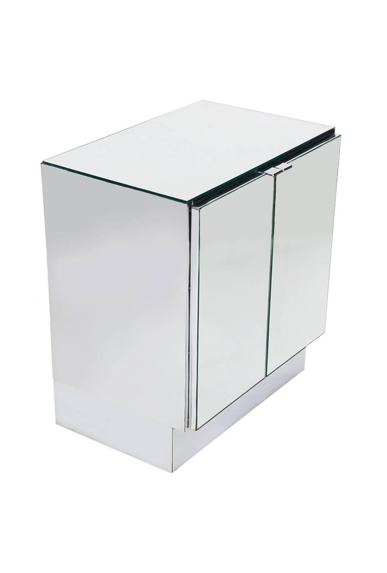 Hollywood Regency Mirrored Cabinets, End Tables or Nightstands by Ello For Sale 2