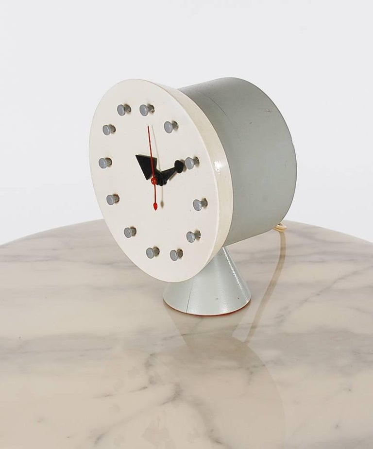 American Mid Century Modern George Nelson Table Or Desk Clock For Howard Miller Co