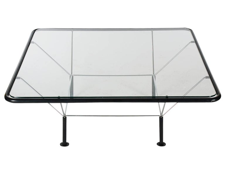 Midcentury Post-Modern Italian Glass Geometric Cocktail Table After Paolo Piva In Excellent Condition For Sale In Philadelphia, PA