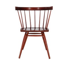 Mid-Century Modern Spindle Back George Nakashima Straight Chair for Knoll