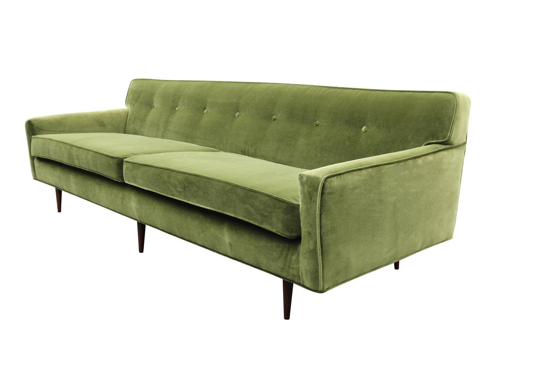 Gorgeous Green Velvet Mid Century Modern Sofa at 1stdibs : IMG2324zz from 1stdibs.com size 1500 x 1000 jpeg 60kB