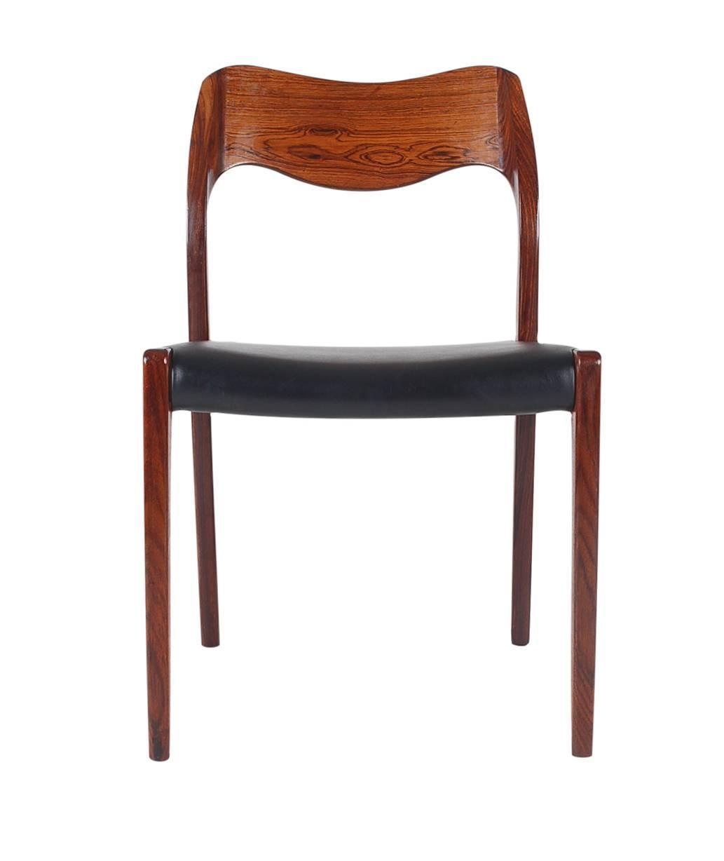 Danish Rosewood Dining Chairs No 71 By Niels Moller At 1stdibs