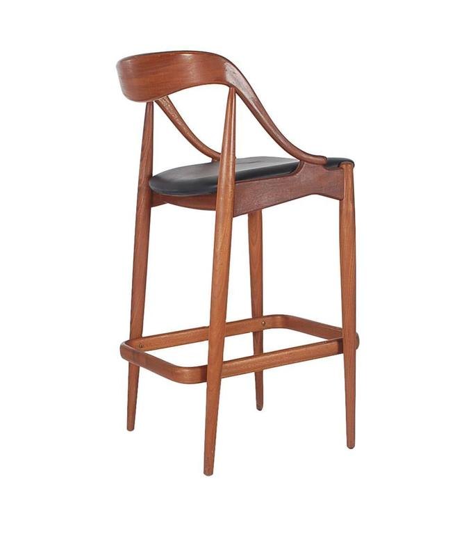 Danish Teak Bar Stools By Johannes Andersen For Morredi At