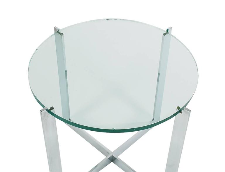 Mid-Century Modern Mid-Century Milo Baughman Chrome and Glass Side Table for Thayer Coggin For Sale