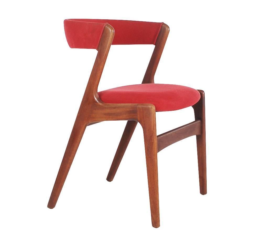 Set of four kai kristiansen teak dining chairs mid century for Z furniture philadelphia