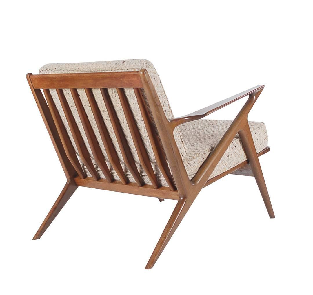 Walnut lounge chair by poul jensen for selig danish modern at 1stdibs