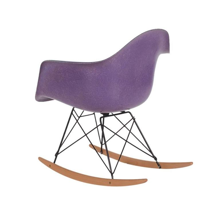 ... Herman Miller Purple Fiberglass Lounge Rocking Chair Rar For Sale.  Purple Is Known To Be The Rarest Color To Collectors Worldwide. Here We  Have A