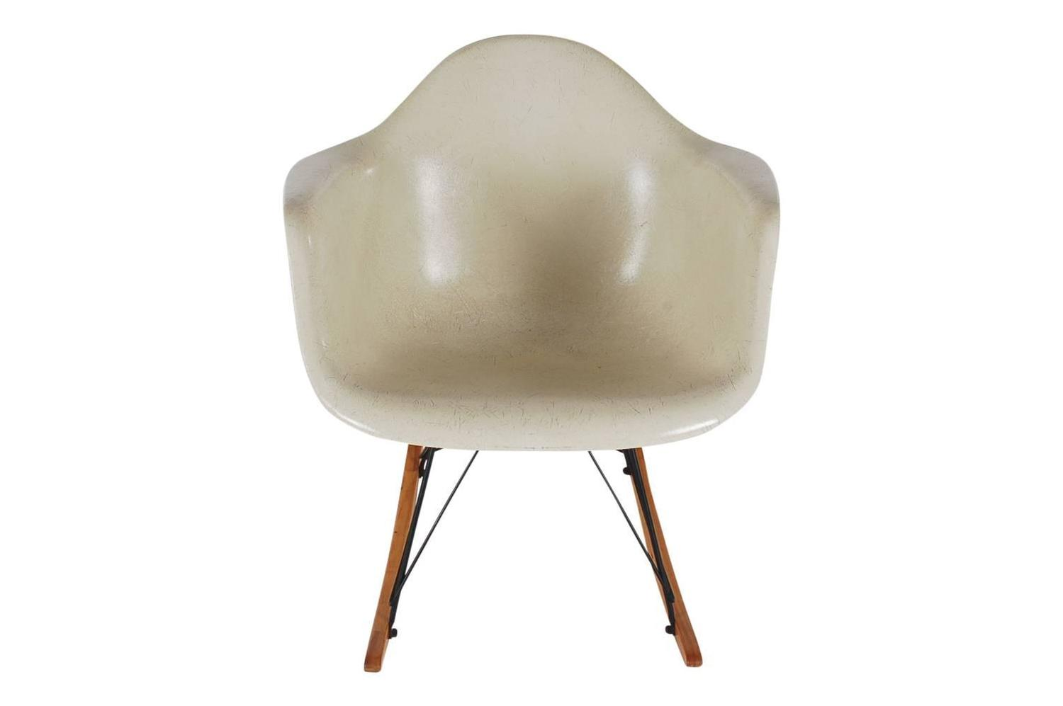 Mid Century Modern Herman Miller Original Rocking Chair By Charles Eames For