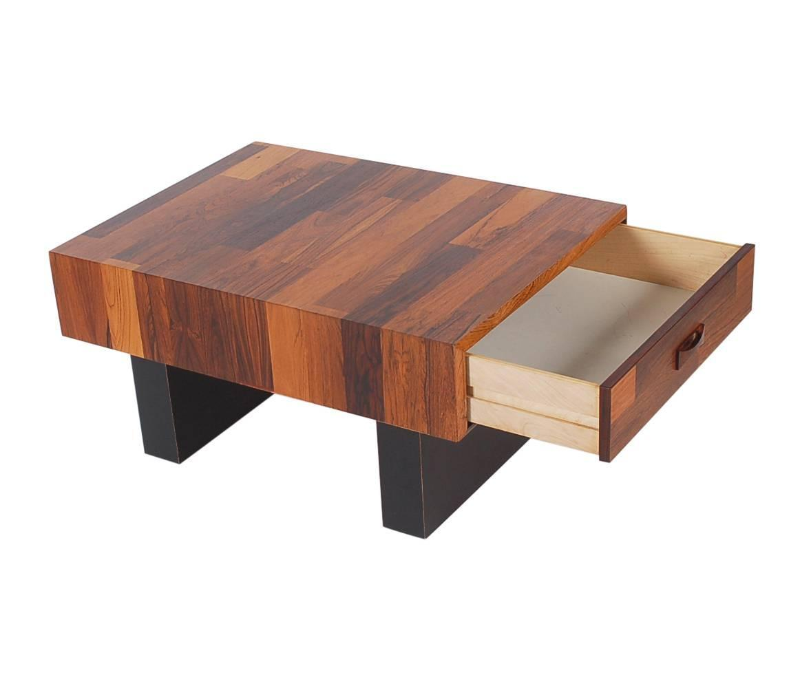 Mid Century Danish Modern Small Scale Drawer Coffee Table