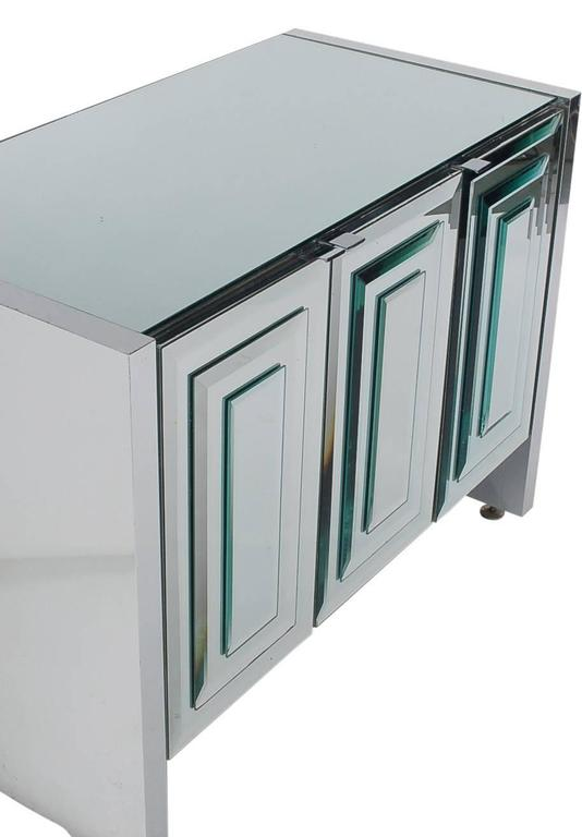Mirrored Art Deco Credenza or Cabinet by Ello after Pierre Cardin or Paul Evans 4