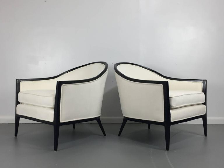 Harvey Probber Ebonized Lounge Chairs, a Pair 2