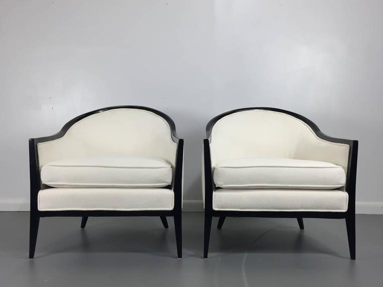 Harvey Probber Ebonized Lounge Chairs, a Pair 5