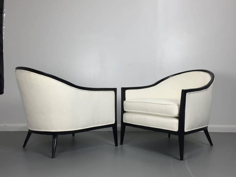 Harvey Probber Ebonized Lounge Chairs, a Pair 3