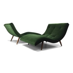 Adrian Pearsall Wave Lounge Chaises A Pair