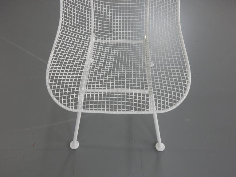 Woodard White Patio Side Chairs, Set of Four Mid Century Bertoia Herman Miller  6
