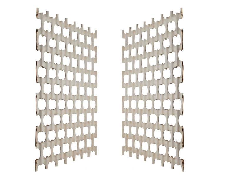 Resin Pair of Mid-Century Modern Room Divider Screens by Richard Harvey after Panton For Sale
