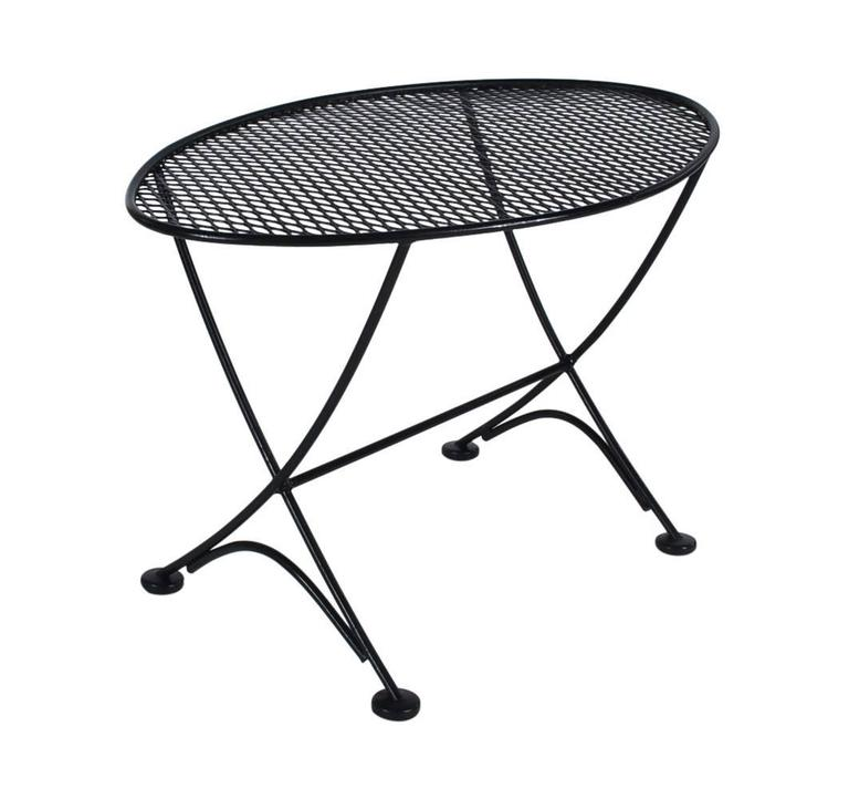 Mid-20th Century Maurizio Tempestini Pair of Patio Iron Lounge Chairs & Table, Mid-Century Modern For Sale