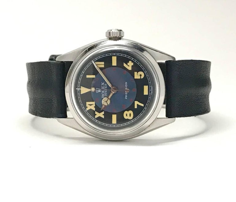 Vintage Oyster Unisex Rolex Wristwatch with California Military Dial 5
