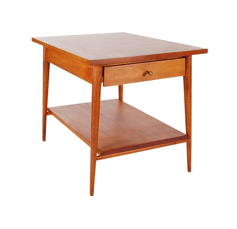 A simple design by Paul McCobb for his Planner Group line in the 1950s that was produced by Winchendon Furniture. This table features solid maple construction and in well cared for condition.