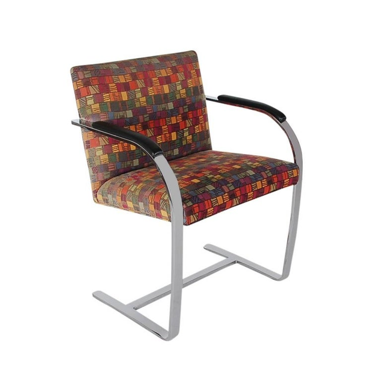 Set of Eight Mid-Century Modern Flat Bar Brno Armchair Dining Chairs for Knoll In Excellent Condition For Sale In Philadelphia, PA