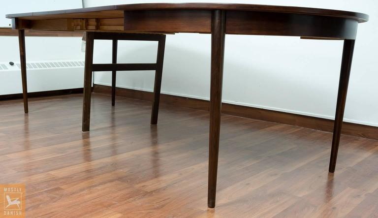 round dining table veneered rosewood with extensions for sale at
