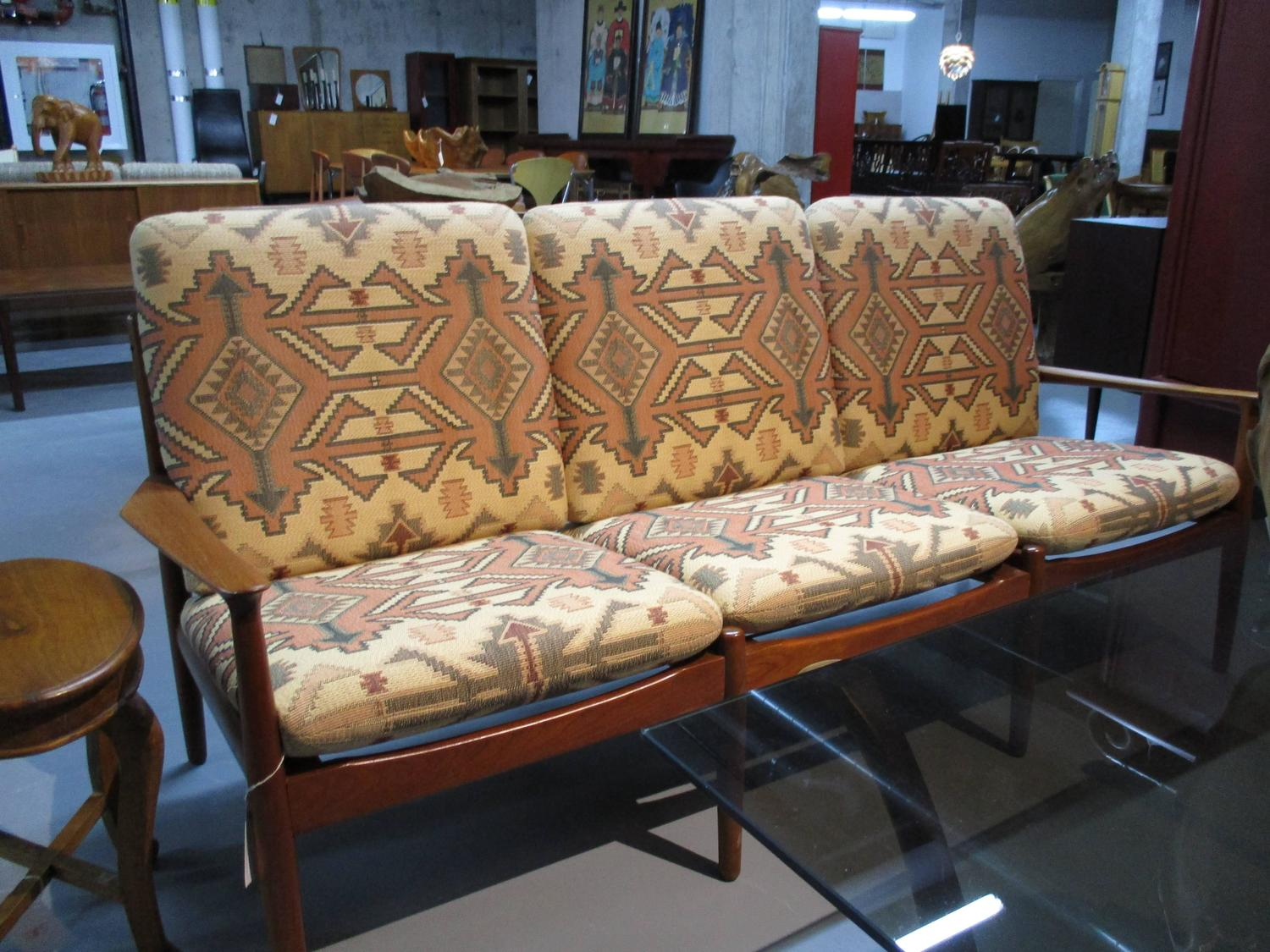 Greta Jalk Sofa And Armchair Living Room Set In Teak For Sale At 1stdibs