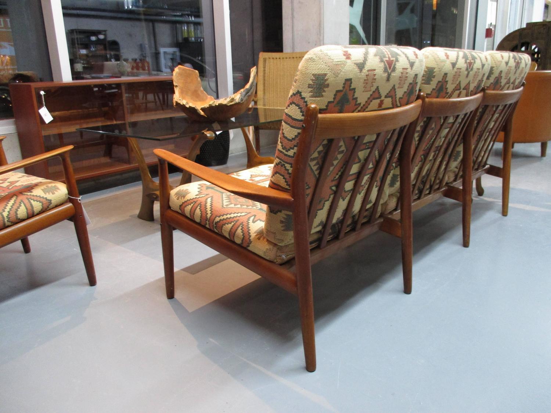 greta jalk sofa and armchair living room set in teak for sale at 1stdibs. Black Bedroom Furniture Sets. Home Design Ideas
