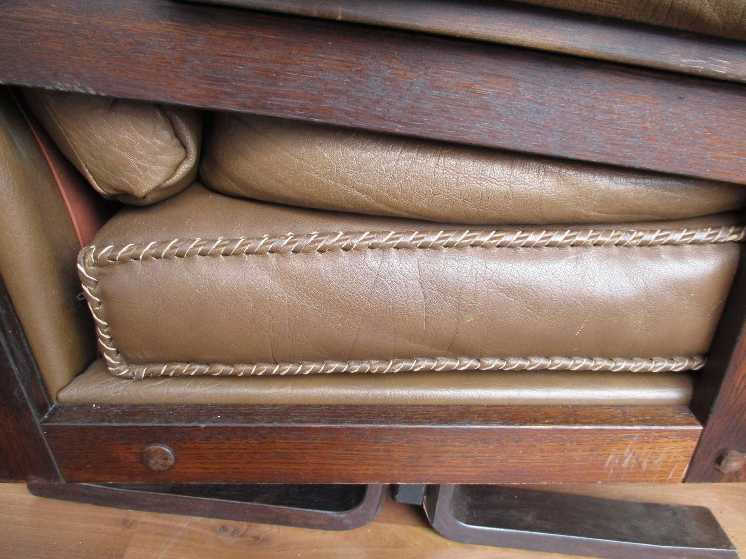 Arne Norell Leather Sofa With Hand Stitching At 1stdibs