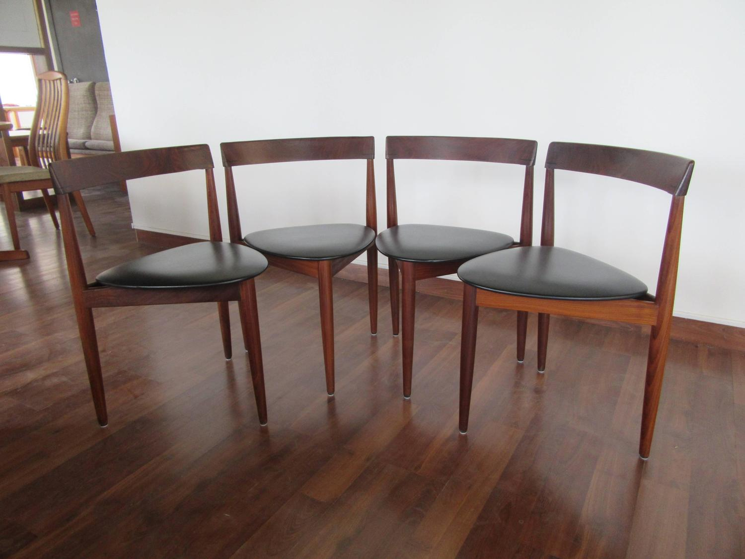 Rare Hans Olsen Teak Table With Leaf And Six Chairs That