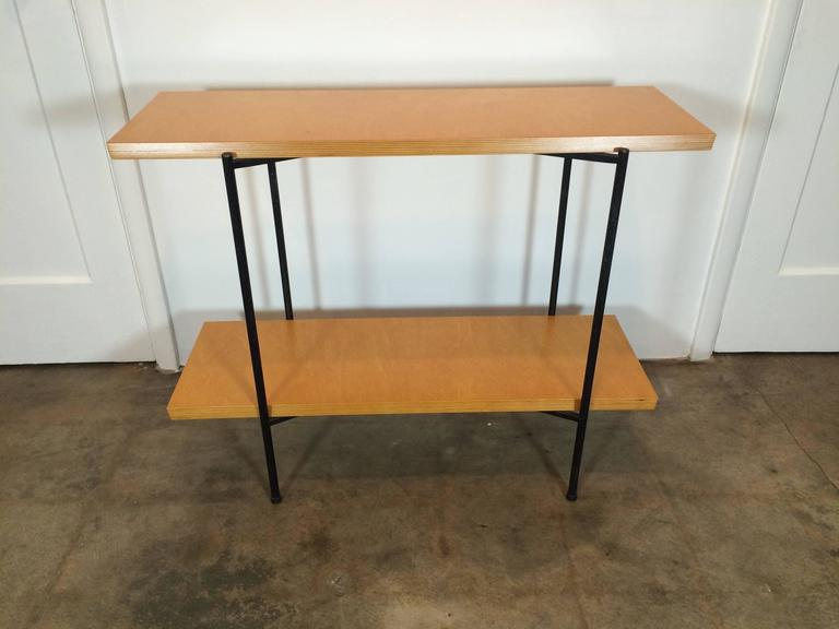 Tony Paul Table and Server, Server Hold Table Leaves In Good Condition For Sale In Denver, CO