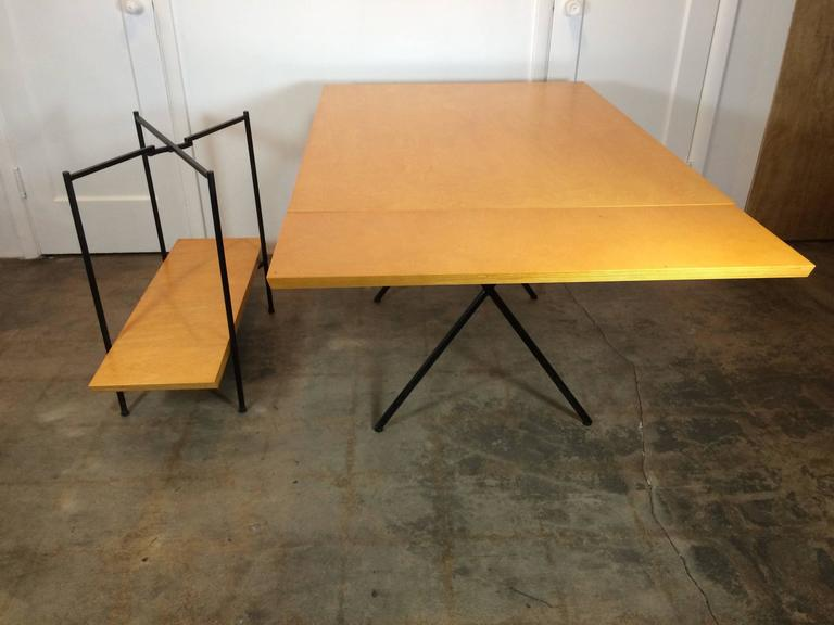Birch Tony Paul Table and Server, Server Hold Table Leaves For Sale