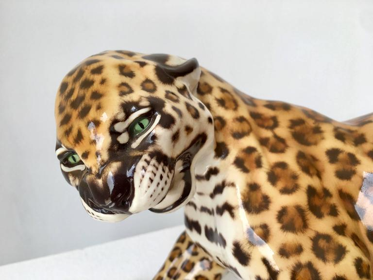 Nymphenburg Porcelain Hans Behrens Zola Leopard Figure Art Nouveau For Sale 1